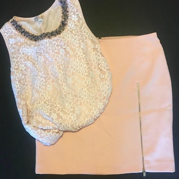 Banana Republic Dresses & Skirts - Blush Banana Republuc work skirt w/ gold zipper